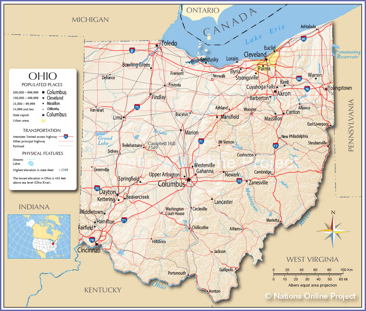 Ohio Map Williamson County Libertarian Party - Ohio road map
