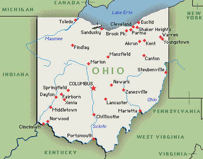 Map Of Ohio Cities Ohio Road Map Ohio Map Ohio State Road Map - Ohio on the us map