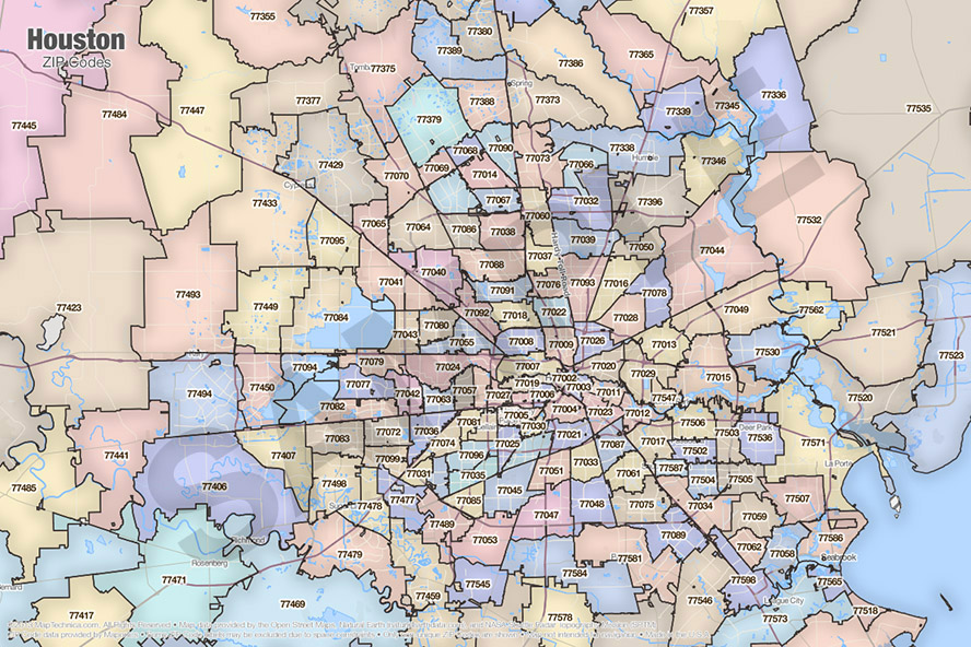 Map Of Houston By Zip Codes | Williamson County Libertarian Party Zip Code Map Houston Tx on