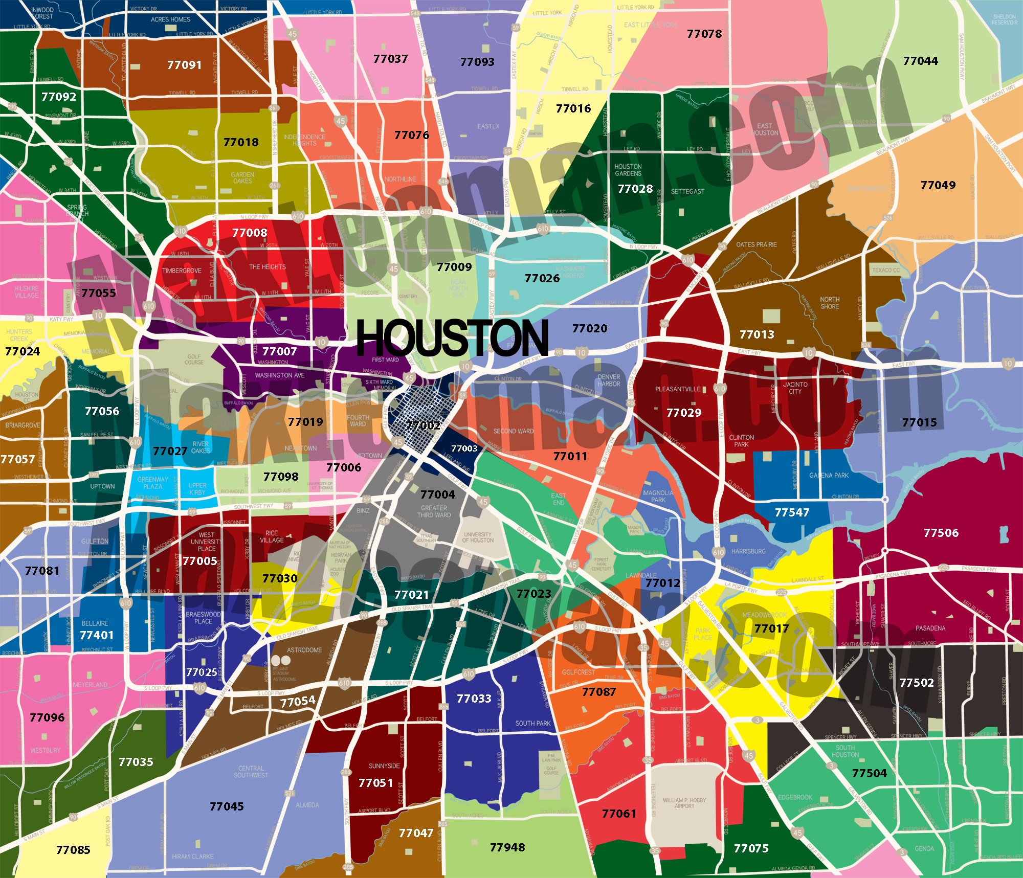 Free Zip Code Map By County.Map Of Houston By Zip Codes Williamson County Libertarian Party