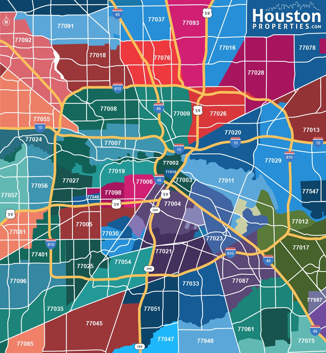 Houston Texas Zip Code Map Map Of Houston By Zip Codes | Williamson County Libertarian Party