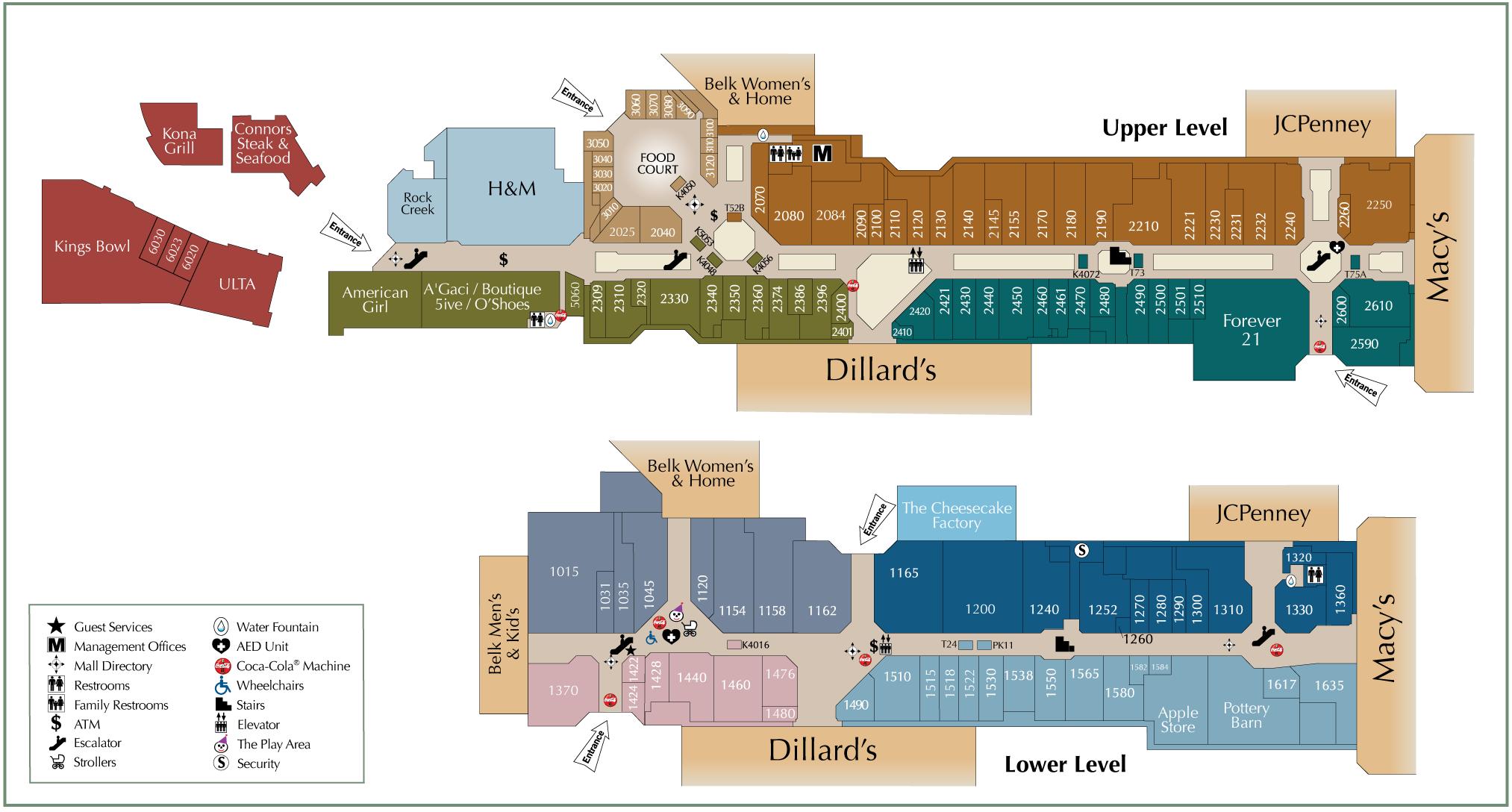 galleria mall map dallas Houston Galleria Directory Map Williamson County Libertarian Party galleria mall map dallas