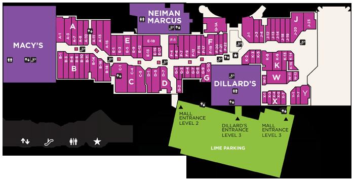 Dallas Galleria Mall Map on